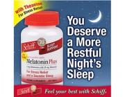Thuốc giảm stress, mất ngủ Schiff Melatonin (300 viên)